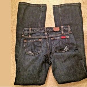 LEVEL 99 5 Pocket Dark Wash Denim Jeans Bootcut